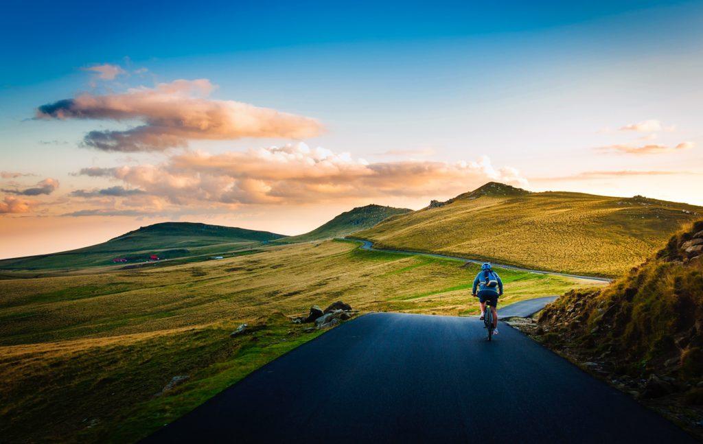 klimmen met racefiets